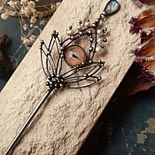 Украшения handmade. Livemaster - original item Hairpin Song about the dragon of the first frosts (h1-003). Handmade.