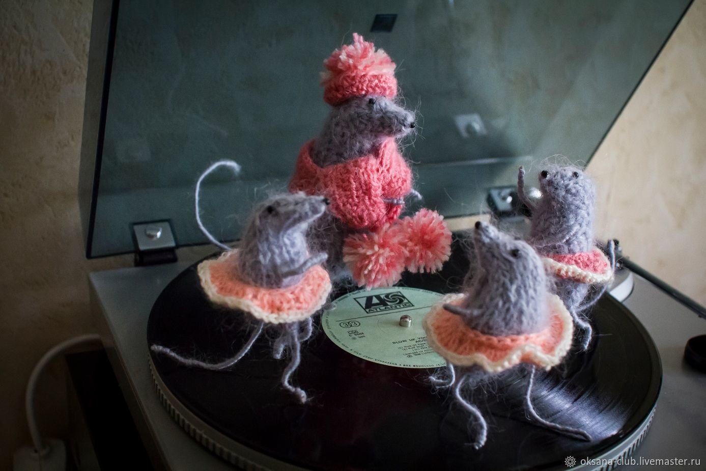 Крыса интерьерная Вязаная игрушка Новогодняя игрушка Подарок 2020 год, Мягкие игрушки, Рыбинск,  Фото №1