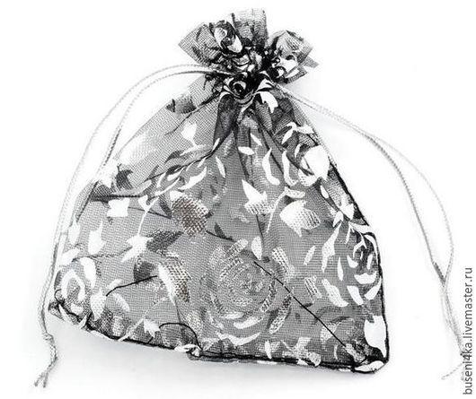 Упаковка ручной работы. Ярмарка Мастеров - ручная работа. Купить Подарочный мешочек Черная роза 9х12см (1шт). Handmade. Мешочки