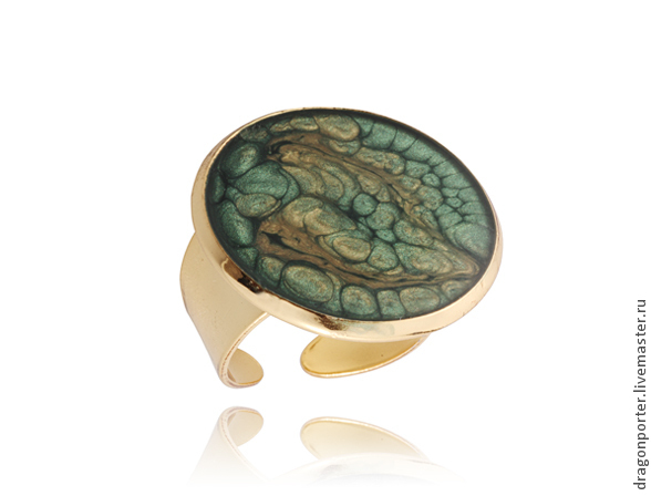 Dark green fashion ring favorite 'Forest fairy', Rings, Moscow,  Фото №1