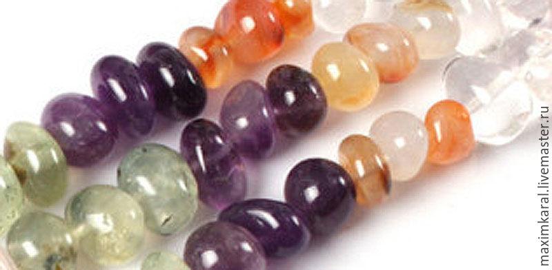 Бусины разных камней свободной формы 8-12 мм, Бусины, Санкт-Петербург, Фото №1
