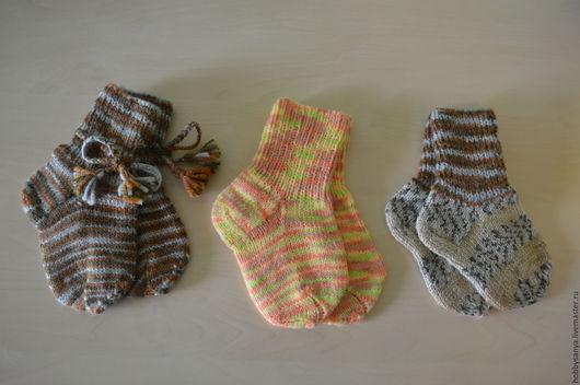 Носки, гольфы, гетры ручной работы. Ярмарка Мастеров - ручная работа. Купить Носочки детские вязаные. Handmade. Комбинированный