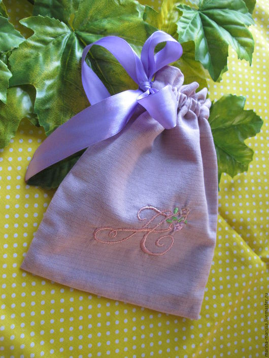 Персональные подарки ручной работы. Ярмарка Мастеров - ручная работа. Купить Мешочки именные с вышивкой. Handmade. Комбинированный, мешочек для мелочей