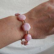 Украшения ручной работы. Ярмарка Мастеров - ручная работа Красивый браслет из розового опала Нежность. Handmade.
