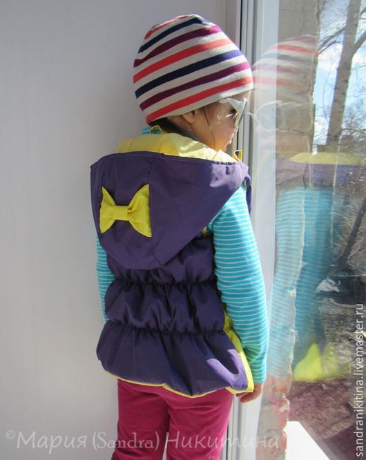 Одежда для девочек, ручной работы. Ярмарка Мастеров - ручная работа. Купить Жилетик. Handmade. Тёмно-фиолетовый, жилет, Дюспа