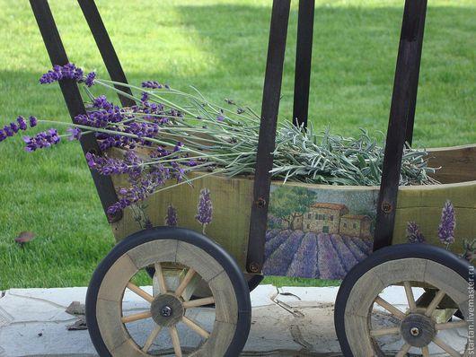 """Экстерьер и дача ручной работы. Ярмарка Мастеров - ручная работа. Купить тележка для сада """"сбор лаванды"""" для примера. Handmade. лаванда"""