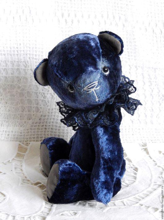 Мишки Тедди ручной работы. Ярмарка Мастеров - ручная работа. Купить Медвежонок Ночка. Handmade. Тёмно-синий