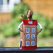 """Для дома и интерьера ручной работы. Ярмарка Мастеров - ручная работа Скульптура """" Дома - хозяйка"""". Handmade."""
