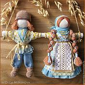 Народная кукла ручной работы. Ярмарка Мастеров - ручная работа Неразлучники. Handmade.