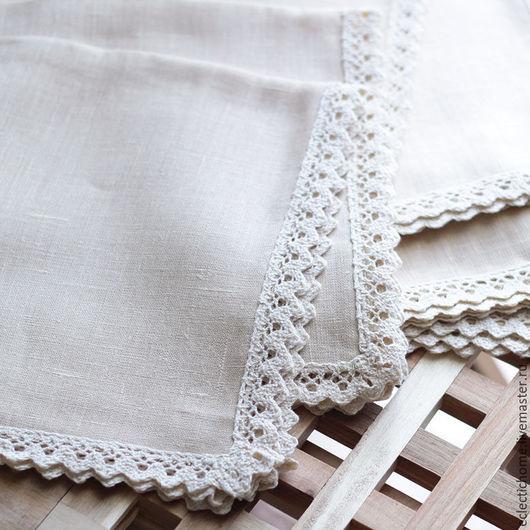 Текстиль, ковры ручной работы. Ярмарка Мастеров - ручная работа. Купить Салфетка из льна, 47х47 см. Handmade. Бежевый, салфетка