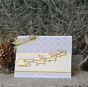Открытки ручной работы. Ярмарка Мастеров - ручная работа Новогодняя открытка. Handmade.
