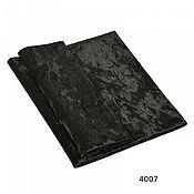 Материалы для творчества ручной работы. Ярмарка Мастеров - ручная работа Плюш винтажный чёрный, 50х50см 100% п/э. Handmade.