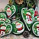 Christmas toys of felt 'Santa Claus and snowman', Ded Moroz and Snegurochka, Chekhov,  Фото №1