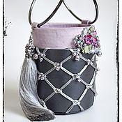 Сумки и аксессуары handmade. Livemaster - original item Bag-bucket with macrame Romantic young Lady. Handmade.