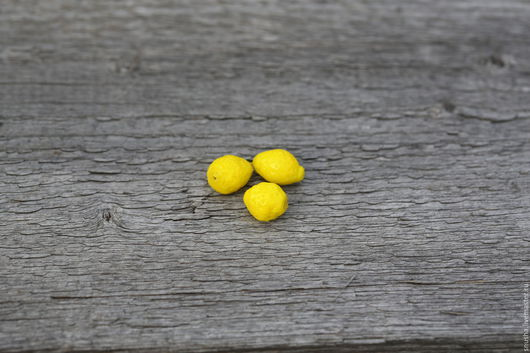 Для украшений ручной работы. Ярмарка Мастеров - ручная работа. Купить Лимон. Handmade. Лимонный, фрукты, стекло лэмпворк, лето