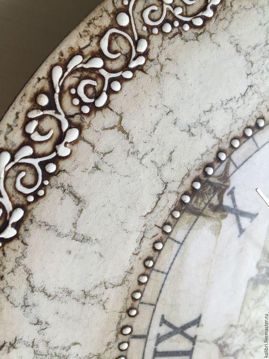 Часы для дома ручной работы. Ярмарка Мастеров - ручная работа. Купить Часы Athena (по мотивам). Handmade. Де капе