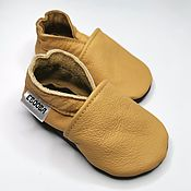 Одежда детская handmade. Livemaster - original item Baby shoes//Crib baby shoes//Walker Baby Shoes//Yellow Baby Shoes. Handmade.