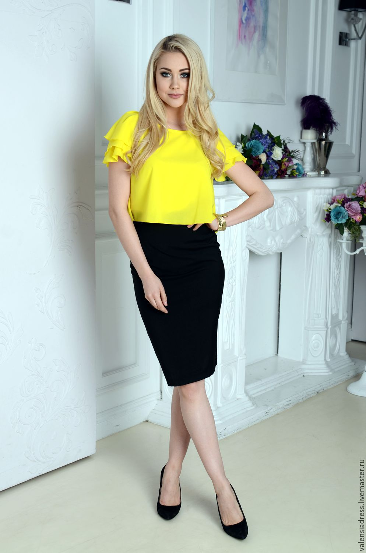 Блузка Желтая Купить С Доставкой