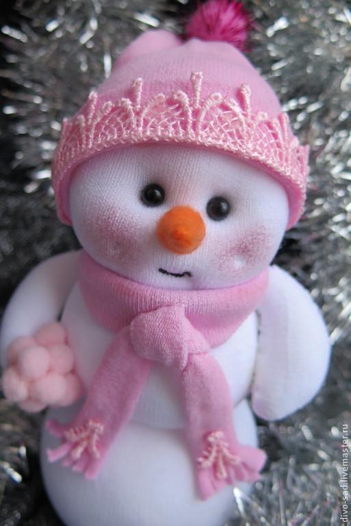 Новый год 2017 ручной работы. Ярмарка Мастеров - ручная работа. Купить Снеговик новогодний. Handmade. Снеговик, волшебная ночь, картон