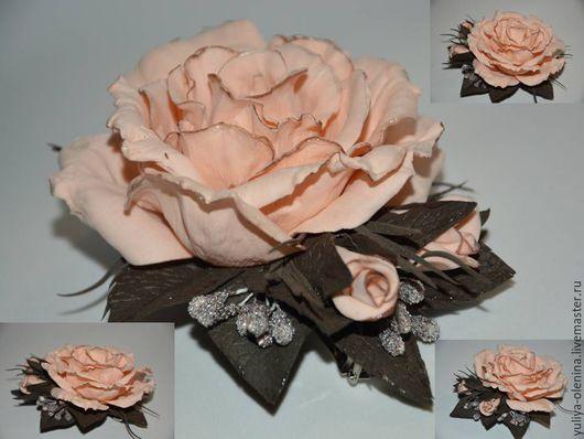 Цветы ручной работы. Ярмарка Мастеров - ручная работа. Купить заколка с цветами. Handmade. Кремовый, розы из фоамирана