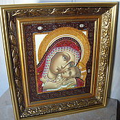 Картины и панно handmade. Livemaster - original item The Icon The Virgin Of Korsun. Handmade.