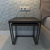 Столы ручной работы. Ярмарка Мастеров - ручная работа Пара кофейных столиков Step. Handmade.