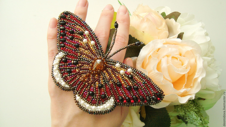 Броши бабочка своими руками из бисера