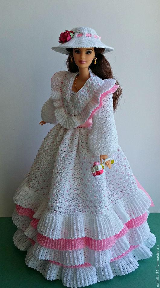 Одежда для кукол ручной работы. Ярмарка Мастеров - ручная работа. Купить Летний наряд для прогулок в парке или саду. Handmade.