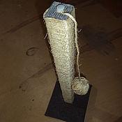 Для домашних животных, ручной работы. Ярмарка Мастеров - ручная работа Когтеточка с игрушкой. Handmade.