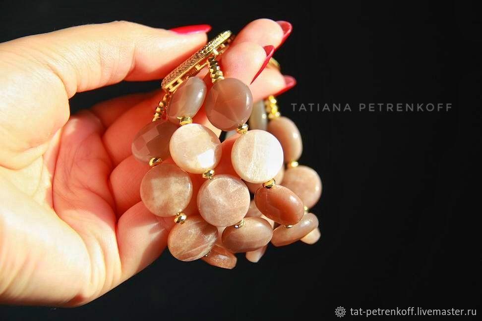 'Sun Dunes' sun stone, luxury accessories. bracelet, Bead bracelet, Moscow,  Фото №1