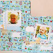 Подарки к праздникам ручной работы. Ярмарка Мастеров - ручная работа Подарочный комплект на рождение:папка для свидетельства и альбом. Handmade.