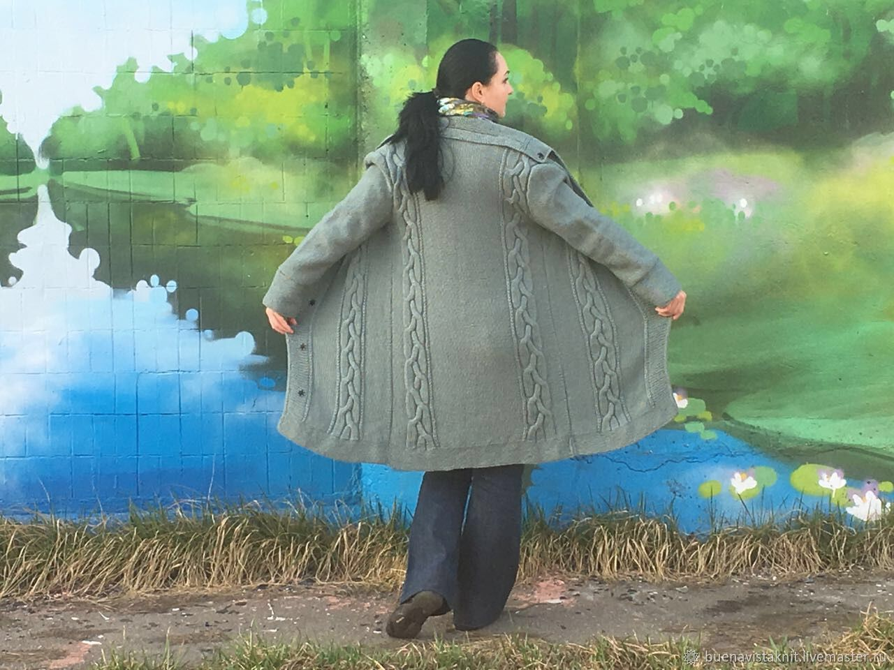 Вязаный кардиган. Вязаное пальто. Вязание на заказ