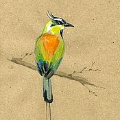Картины и панно handmade. Livemaster - original item The Picture Bird Momot. Watercolor. Original. Handmade. Handmade.