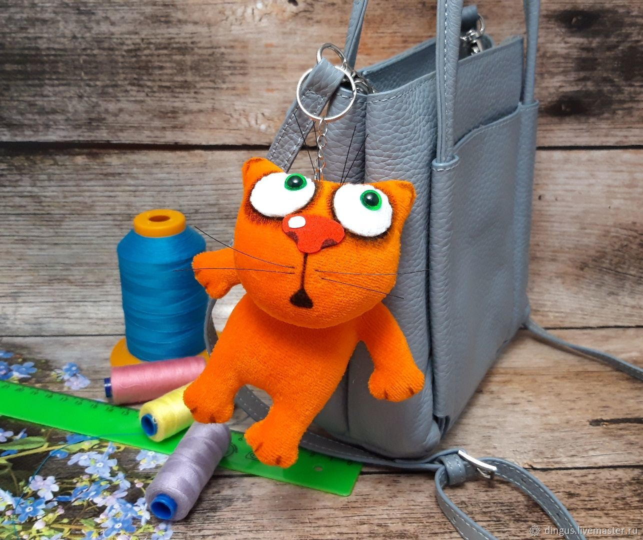 Keychain, ginger kitten plush soft toy for lovers of cats, Stuffed Toys, Moscow,  Фото №1