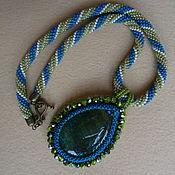 Украшения handmade. Livemaster - original item Pendant with agate necklace harness