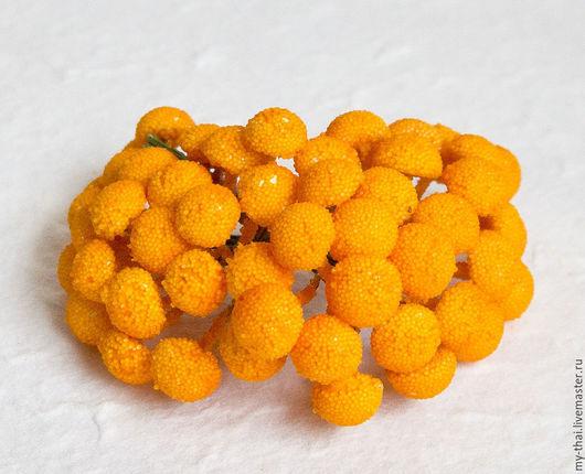 100 шт Серединки ромашек оранжевые My thai материалы для флористики из Таиланда