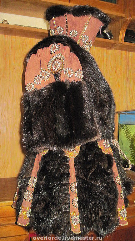 """Верхняя одежда ручной работы. Ярмарка Мастеров - ручная работа. Купить Шубка""""Меховая Чешуя"""". Handmade. Зимняя одежда, коричневый, вышивка"""