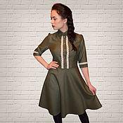 Одежда handmade. Livemaster - original item woolen dress retro