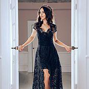 Одежда handmade. Livemaster - original item Dress evening silk lace