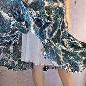 Одежда handmade. Livemaster - original item Skirt-half-sun MIDI ( Paisley). Handmade.