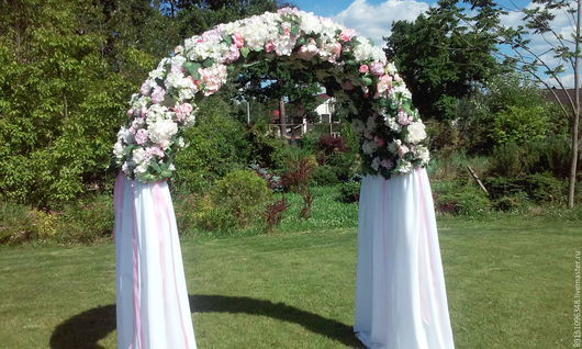 Свадебные цветы ручной работы. Ярмарка Мастеров - ручная работа. Купить Арка. Handmade. Кремовый, оформление свадьбы, цветы из ткани