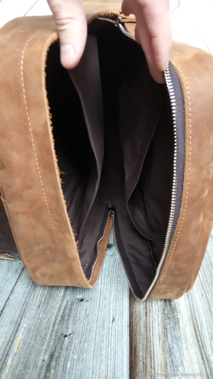 Кожаный городской рюкзак антидождь №17