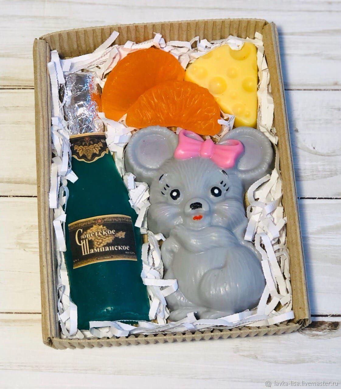 Подарочный набор мышка с шампанским, Мыло, Екатеринбург,  Фото №1