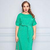 Одежда ручной работы. Ярмарка Мастеров - ручная работа Летнее платье зеленого цвета 32056-1. Handmade.