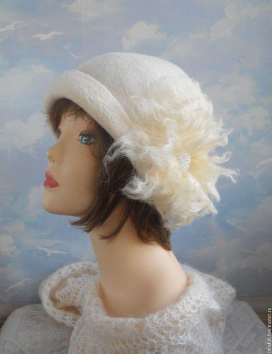 """Шляпы ручной работы. Ярмарка Мастеров - ручная работа. Купить шляпа """"Госпожа Метелица"""". Handmade. Белый, метелица"""