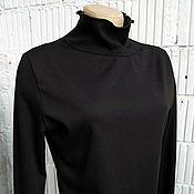 Одежда ручной работы. Ярмарка Мастеров - ручная работа V_005_1 Водолазка из джерси симметричная, цвет черный. Handmade.