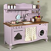 Игрушки ручной работы. Ярмарка Мастеров - ручная работа Игрушки: Детская кухня со стиральной машинкой, деревянная. Handmade.