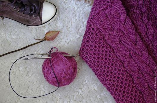 Кофты и свитера ручной работы. Ярмарка Мастеров - ручная работа. Купить Свитер с аранами. Handmade. Фуксия, рубан, свитер с косами