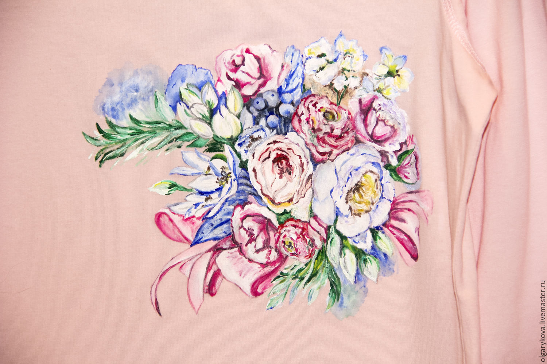 Women's longsleeve painted ' When the summer heart', T-shirts, St. Petersburg,  Фото №1