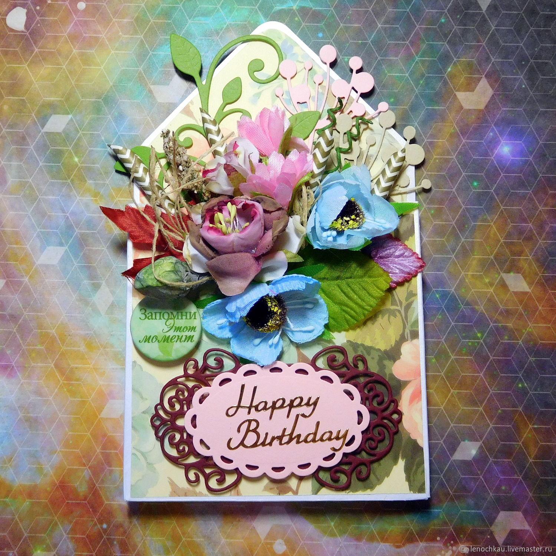 Birthday Cards Handmade Order Postcard Envelope Happy From Elena